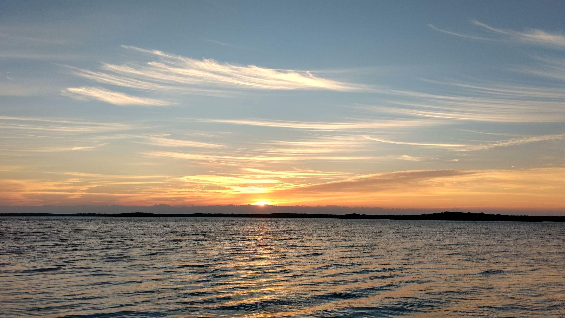 Sunrise on Largo Sound, March 16, 2017